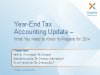 Year End Tax Update – What you need to know to prepare for 2014