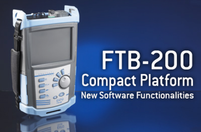 FTB-200 Compact Platform New Software Functionalities