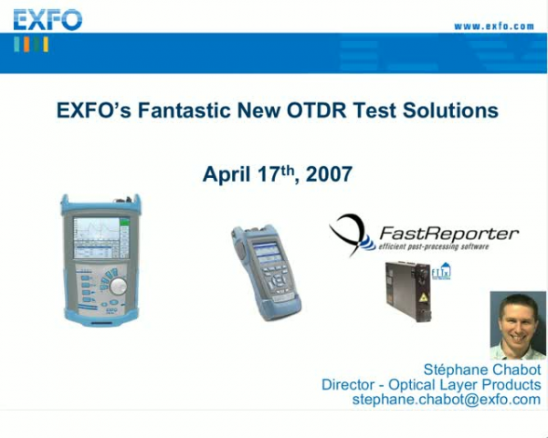 New OTDR Testing Solutions: Simpler and Faster