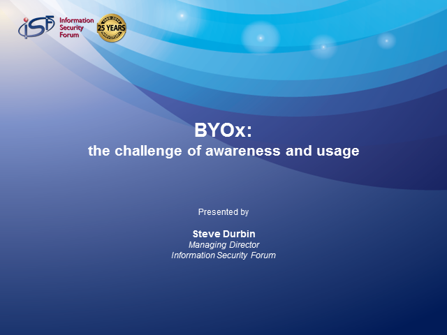 BYOx, the challenge of awareness and usage