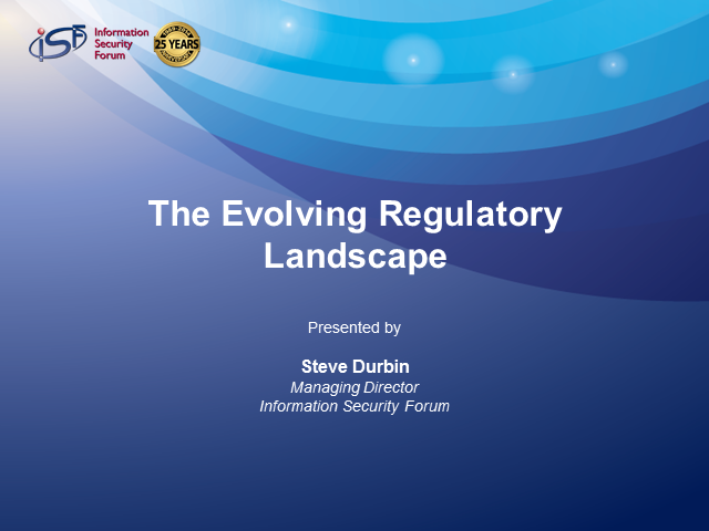 The Evolving Regulatory Landscape