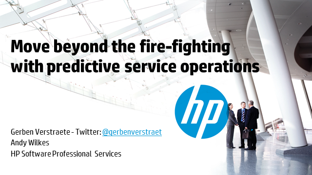 Move beyond the fire-fighting with predictive service operations