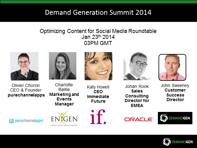 Panel Session - Optimizing Content for Social Media