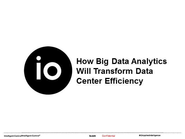 How Big Data Analytics Will Transform Data Center Efficiency