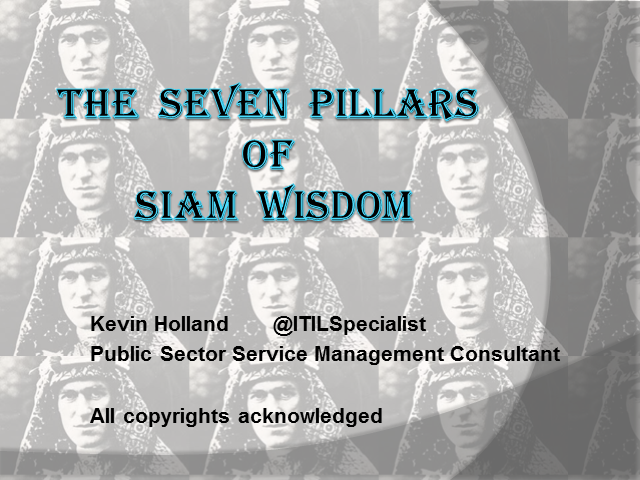 The Seven Pillars of SIAM Wisdom