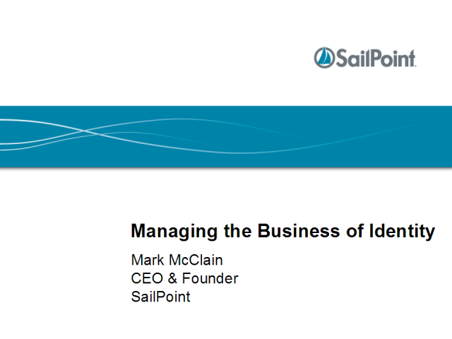 Managing the Business of Identity