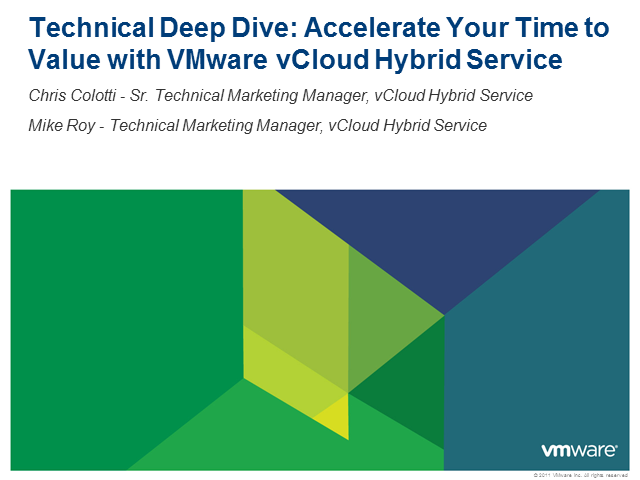 From vSphere to vCloud: Accelerating Your Time to the Cloud with VMware