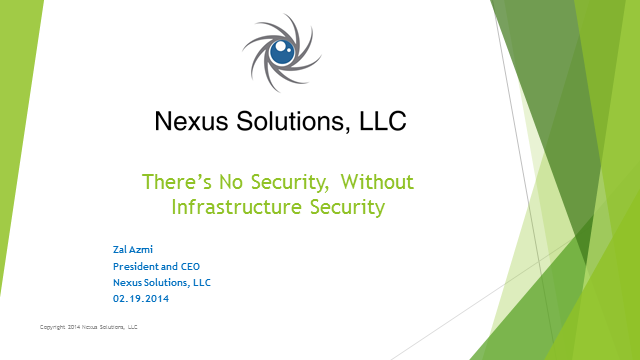 There's No Security Without Infrastructure Security