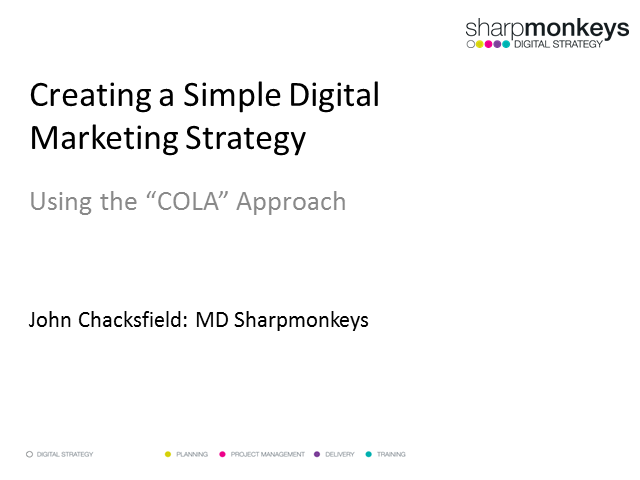 Creating a Simple Digital Marketing Strategy