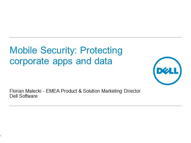 Mobile security; the risks of co-mingling personal and business