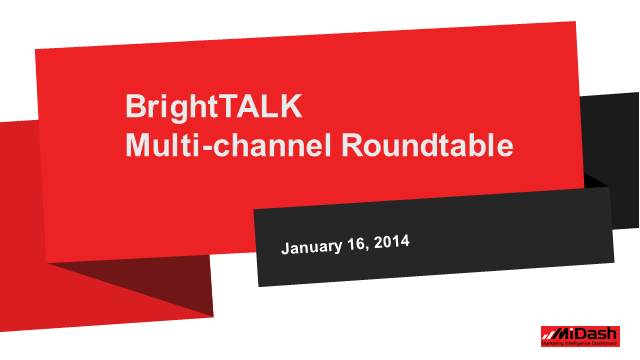 Roundtable - Multi-channel Marketing