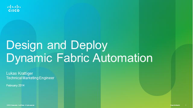 Design and Deploy Dynamic Fabric Automation
