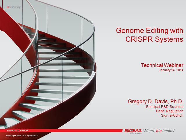 Genome Editing with CRISPR Systems - Session 1