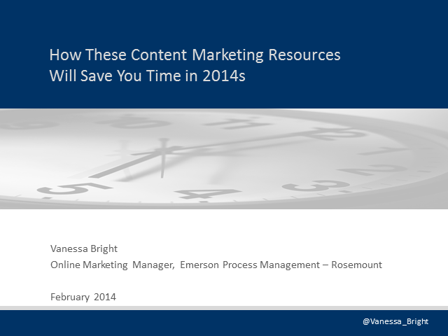 How These Content Marketing Resources Will Save You Time in 2014