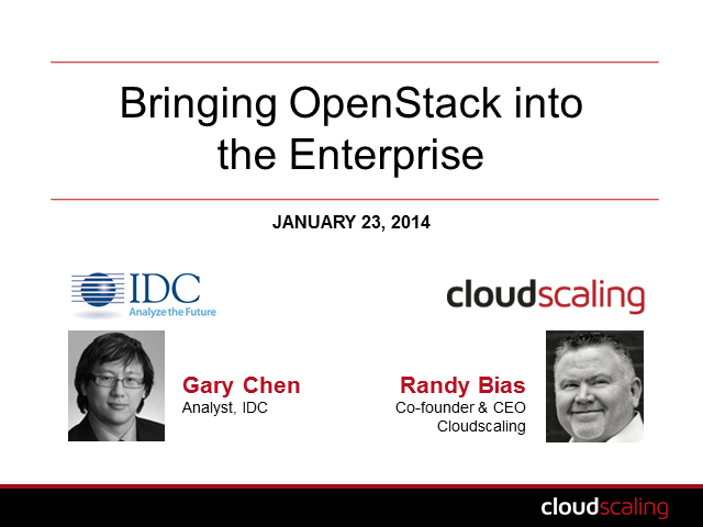 Bringing OpenStack into the Enterprise