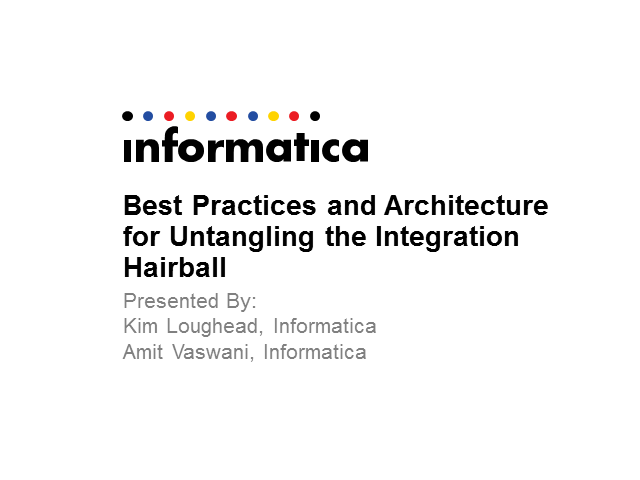 Best Practices and Architecture for Untangling the Integration Hairball
