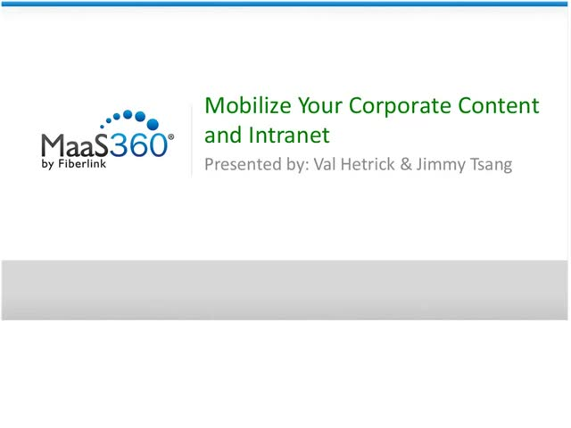 Mobilize Your Corporate Content and Intranet