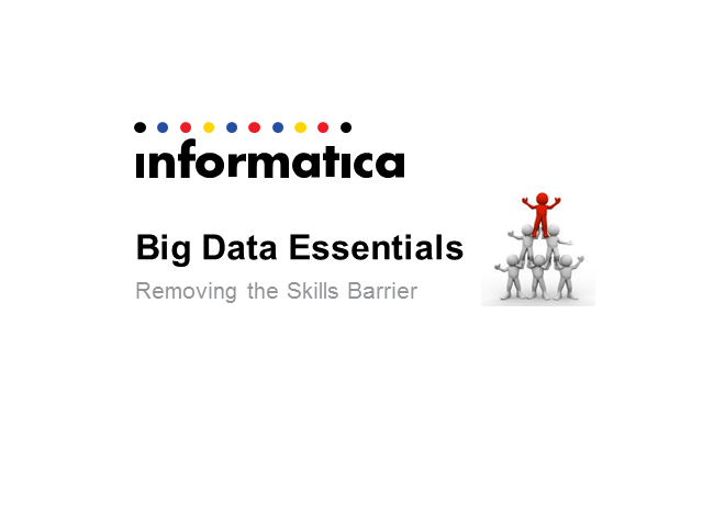 Big Data Essentials:  Removing the Skills Barrier