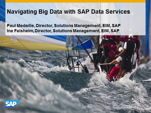 Navigating Big Data with SAP Data Services