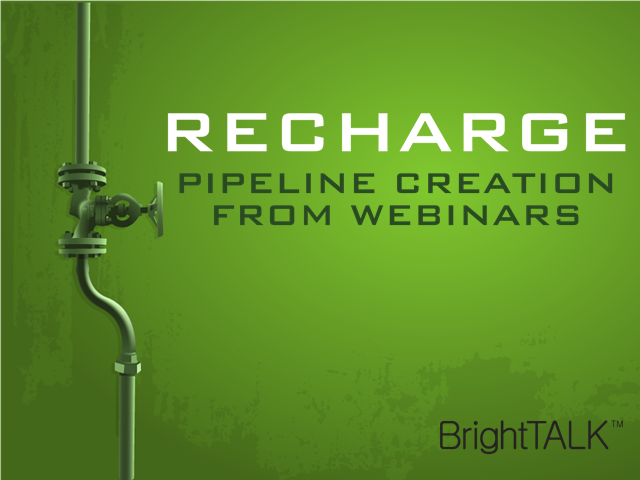 Recharge Pipeline Creation from Webinars