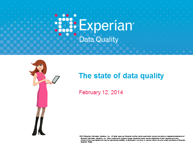 The state of data quality