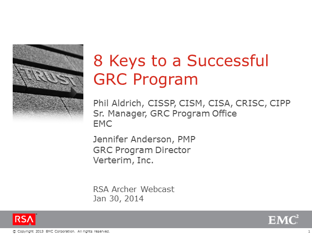 8 Keys to a Successful GRC Program