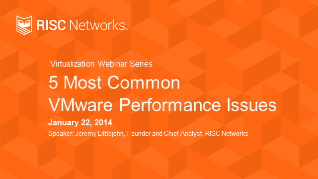 5 Most Common VMware Performance Issues