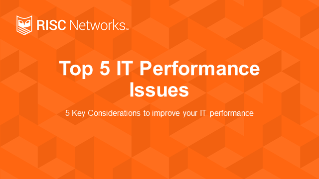 Top 5 Network Infrastructure Performance Issues