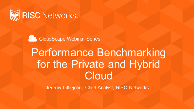 Performance Benchmarking for Private and Hybrid Cloud
