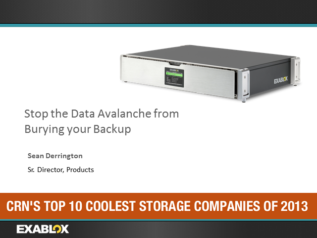 Stop the Data Avalanche from Burying Your Backup