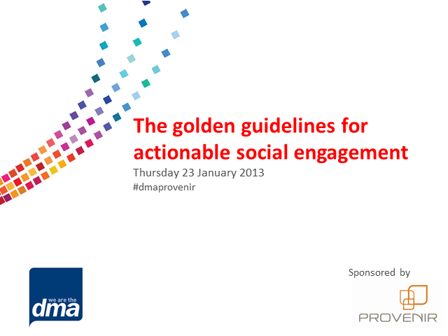 The golden guidelines for actionable social engagement