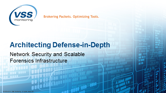 Part 1/2: Architecting Defense-in-depth Network Security, a Webinar