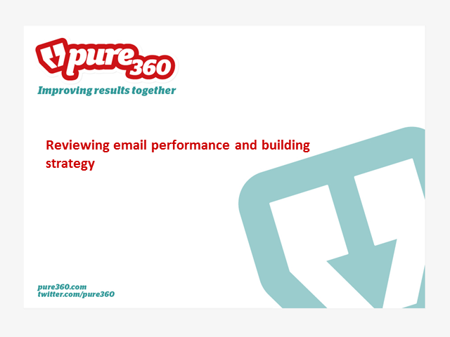 Reviewing email performance & building strategy