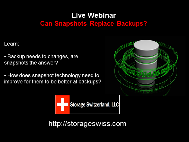 Can Snapshots Replace Backups?