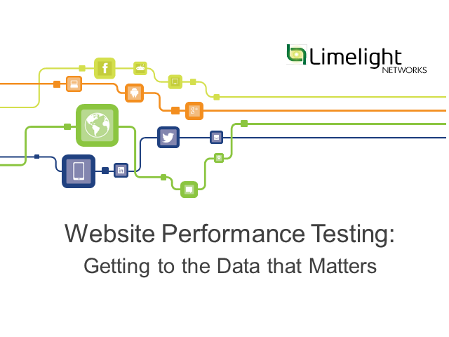 Website Performance Testing: Getting to the Data that Matters