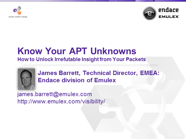 Know Your APT Unknowns – How to Unlock Irrefutable Insight from Your Packets