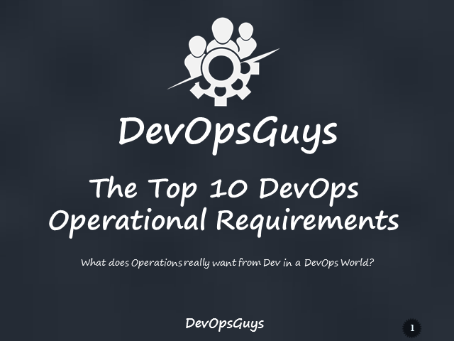 The Top 10 DevOps Operational Requirements