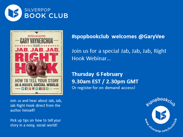 #spopbookclub presents Jab, Jab, Jab, Right Hook with @GaryVee