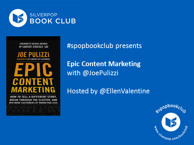 #spopbookclub presents Epic Content Marketing by Joe Pulizzi