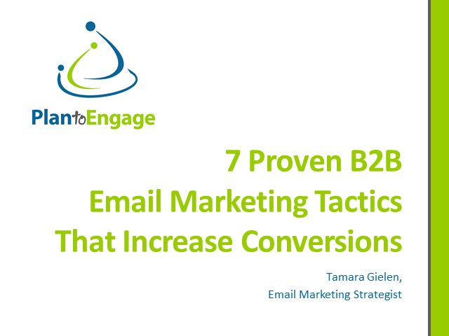7 Proven B2B Email Marketing Tactics That Increase Conversions