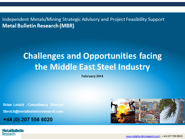 Opportunities and Challenges facing the Middle East Steel Industry