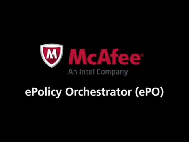 McAfee SMB Technical Training Series: McAfee ePolicy Orchestrator