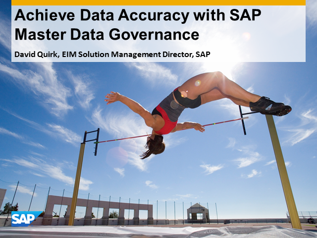 Achieve Data Accuracy with SAP Master Data Governance