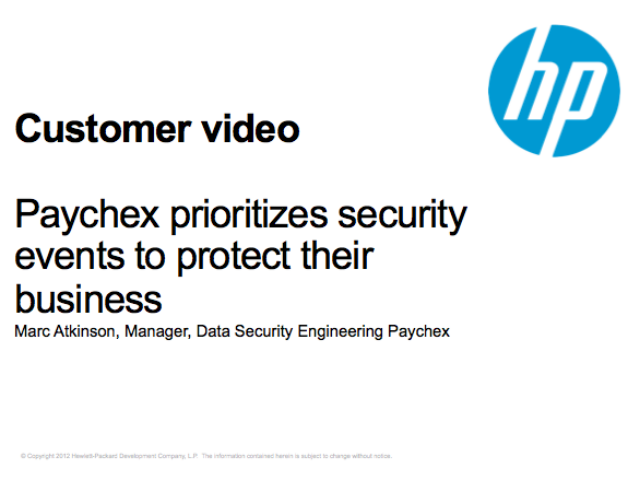 Paychex prioritizes security events to protect their business
