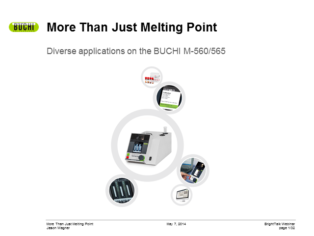 More than just melting point with the BUCHI M-565