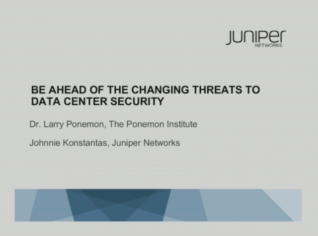 Be Ahead of the Changing Threats to Data Center Security
