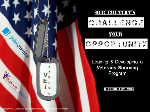 Leading and Developing a Veterans Sourcing Program