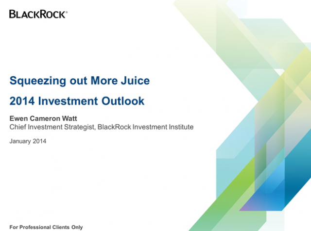BlackRock Investment Institute Outlook for 2014