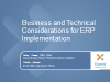 Business and Technical Considerations for ERP Implementation Success