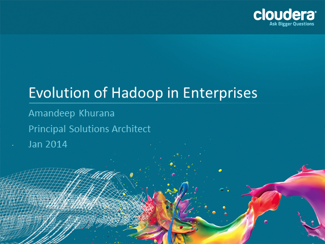 The Evolution of Hadoop Adoption in Enterprises